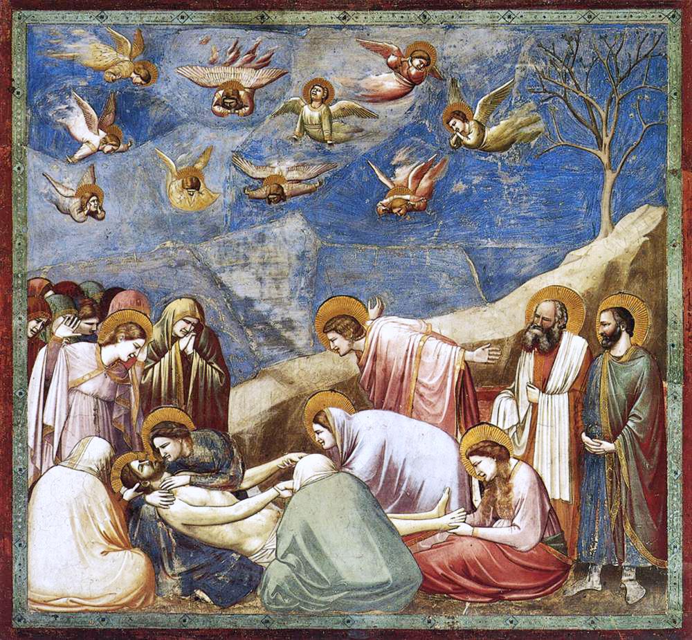 Lamentation devant le Christ mort